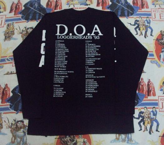 VINTAGE 1993 D.O.A. TOUR T-SHIRT