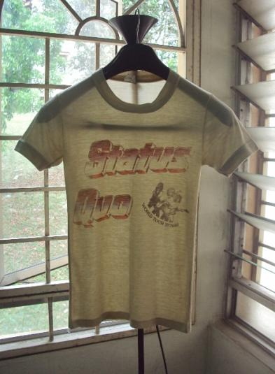 Vintage 1979 STATUS QUO WORLD TOUR T-SHIRT