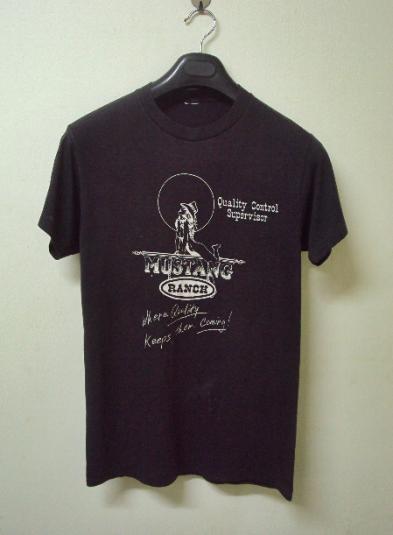 VINTAGE 80'S MUSTANG RANCH T-SHIRT