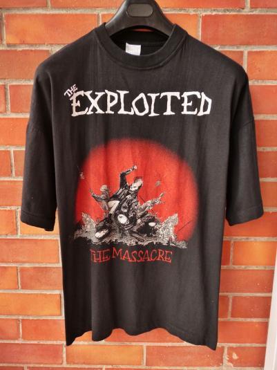 VINTAGE 1992 THE EXPLOITED THE MASSACRE TOUR T-SHIRT