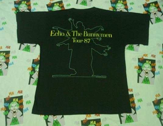 VINTAGE 1987 ECHO & THE BUNNYMEN TOUR T-SHIRT