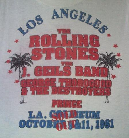 VINTAGE THE ROLLING STONES 1981