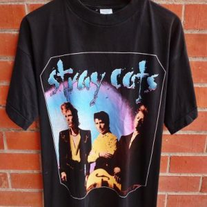 VINTAGE 1992 THE STRAY CATS T-SHIRT
