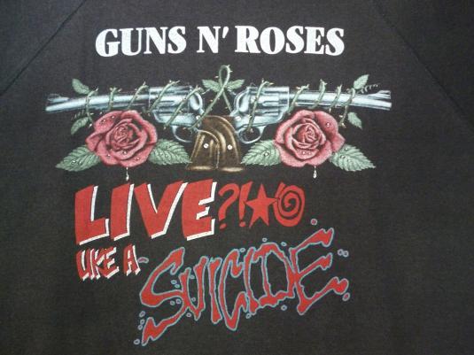 VINTAGE 80S GUNS N ROSES RAPE SCENE EUROPE TOUR SWEATSHIRT