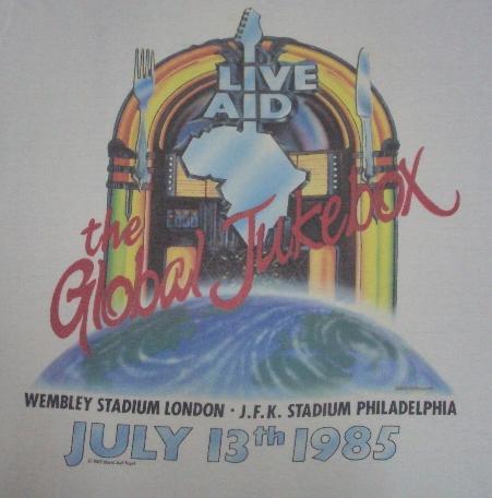 VINTAGE 1985 LIVE AID JUKEBOX T-SHIRT
