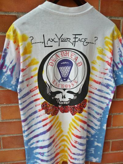 VINTAGE 80S THE GRATEFUL DEAD DEAD HEAD LACROSSE T-SHIRT