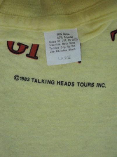 VINTAGE 1983 TALKING HEADS T-SHIRT