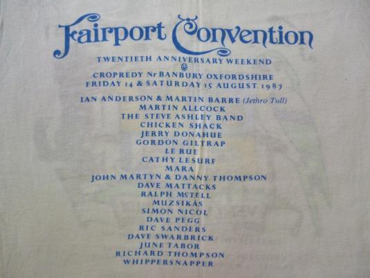 VINTAGE 80S FAIRPORT CONVENTION T-SHIRT