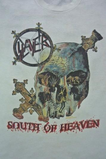 VINTAGE 1990 SLAYER SOUTH OF HEAVEN T-SHIRT