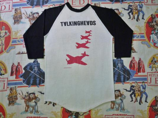 1980 TALKING HEADS Autographed US Tour Jersey