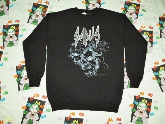 VINTAGE 1990 SADUS SWALLOWED IN BLACK SWEATSHIRT