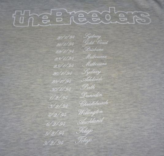 VINTAGE THE BREEDERS CANNONBALL TOUR T-SHIRT