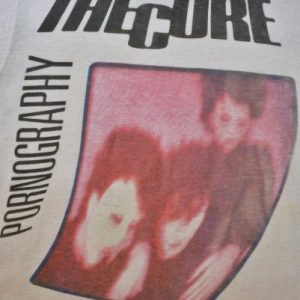 VINTAGE 1982 THE CURE PORNOGRAPHY T-SHIRT