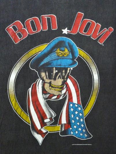 VINTAGE 1987 BON JOVI CONCERT T-SHIRT