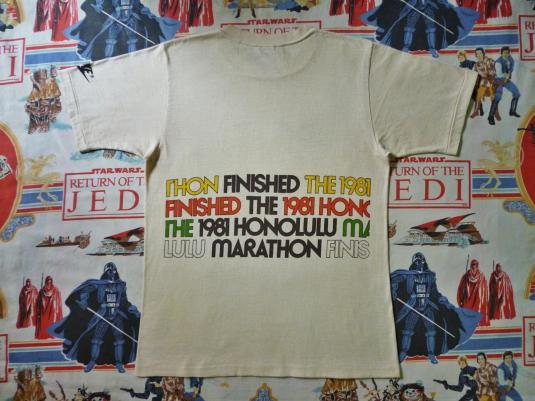 VINTAGE 1981 HONOLULU MARATHON NIKE CRAZY HAWAII T-SHIRT
