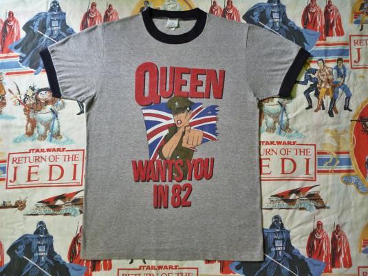 VINTAGE 1982 QUEEN WANTS YOU T-SHIRT