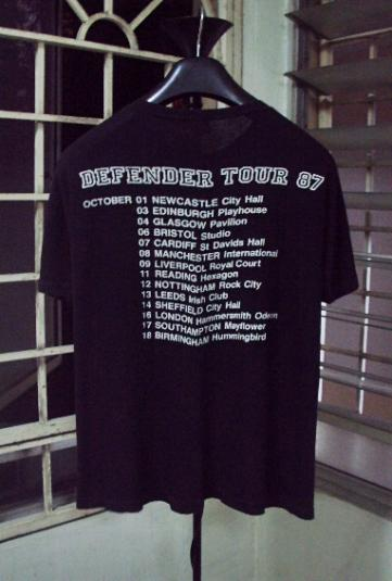 VINTAGE 1987 RORY GALLAGHER UK TOUR T-SHIRT