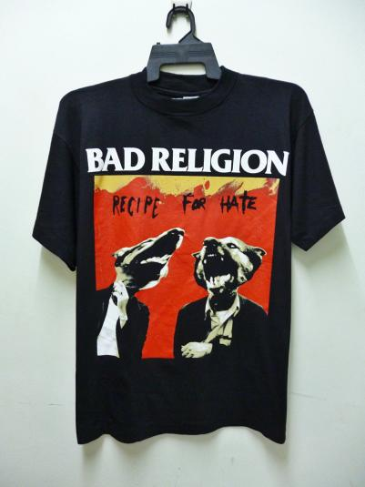 VINTAGE BAD RELIGION RECIPE FOR HATE T-SHIRT