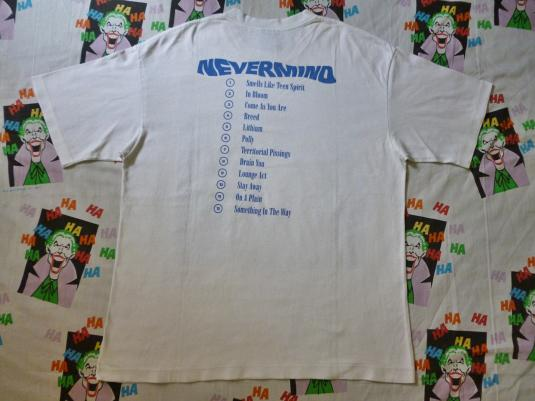 VINTAGE 1992 NIRVANA NEVERMIND TOUR T-SHIRT