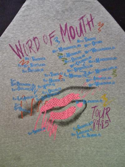 VINTAGE 1984 THE KINKS WORD OF MOUTH T-SHIRT
