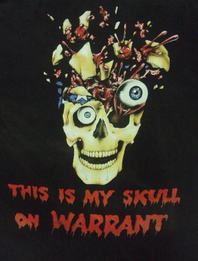 VINTAGE WARRANT Pushead T-SHIRT