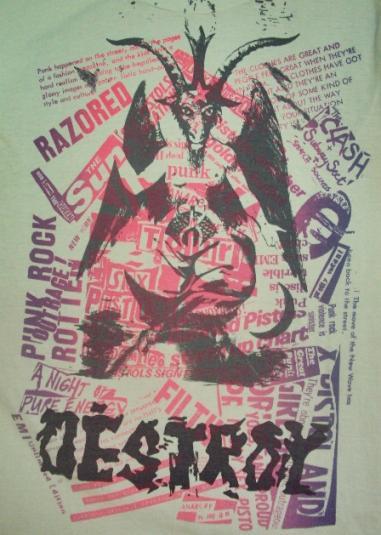 VINTAGE 80'S DESTROY SEX PISTOLS T-SHIRT