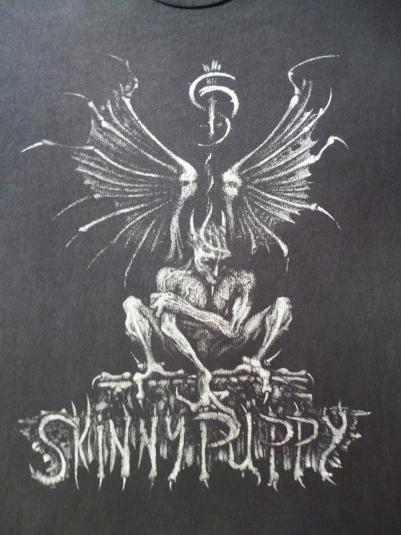 VINTAGE 1992 SKINNY PUPPY LAST RIGHTS TOUR T-SHIRT
