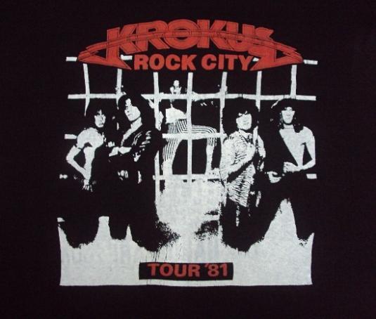 VINTAGE 1981 KROKUS TOUR T-SHIRT & PROGRAMME PLUS SIGNATURE