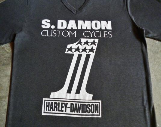 VINTAGE 70S HARLEY DAVIDSON #1 T-SHIRT