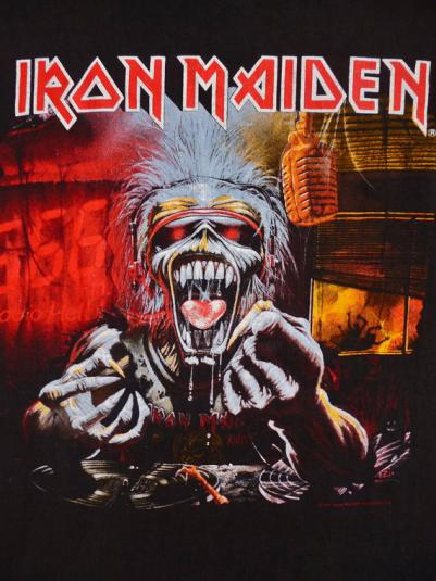 Vintage 1993 IRON MAIDEN A Real Dead One 666 Fm T-Shirt