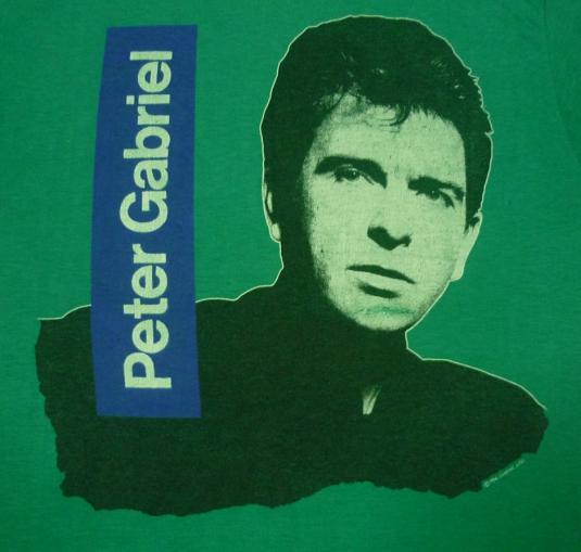 VINTAGE 1986 PETER GABRIEL T-SHIRT