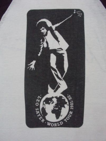 VINTAGE 1981 LEO SAYER WORLD TOUR