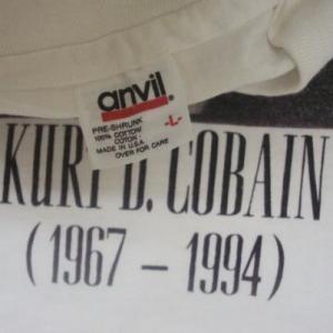 VINTAGE KURT COBAIN 1967-1994 RIP