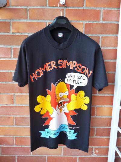 VINTAGE 1990 HOMER SIMPSON AMERICAN DAD T-SHIRT