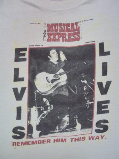 VINTAGE ELVIS 1977 NEW MUSICAL EXPRESS