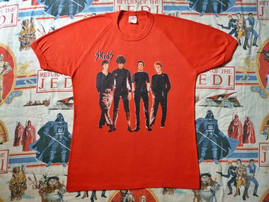 VINTAGE 1979 THE SKIDS INTO THE VALLEY T-SHIRT