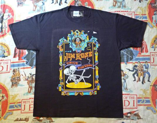 VINTAGE THE JIM ROSE CIRCUS SIDESHOW T-SHIRT DEADSTOCK