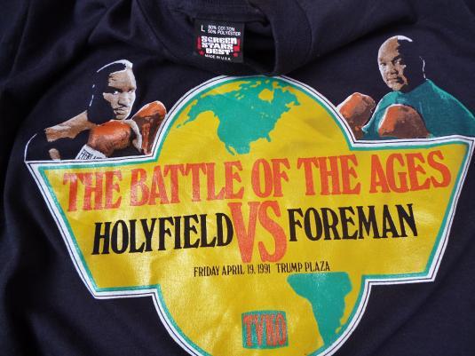 VINTAGE 1991 HOLYFIELD VS FOREMAN BOXING T-SHIRT