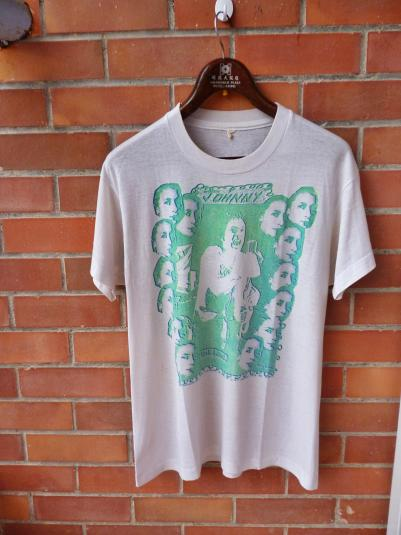 VINTAGE 1976 JOHNNY ROTTEN THE KING T-SHIRT