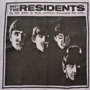 VINTAGE 1974 MEET THE RESIDENTS PROMOT-SHIRT