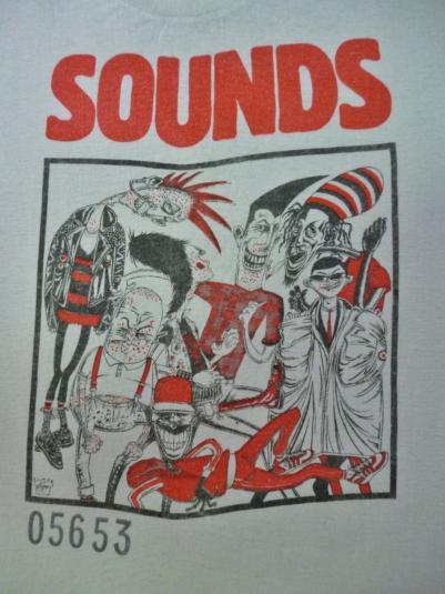 VINTAGE 1983 SOUNDS MAGAZINE/NEWSPAPER T-SHIRT