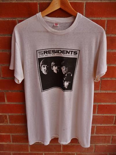 VINTAGE 1974 MEET THE RESIDENTS PROMOT-SHIRT