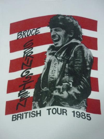 VINTAGE 1985 BRUCE SPRINGSTEEN BRITISH TOUR T-SHIRT