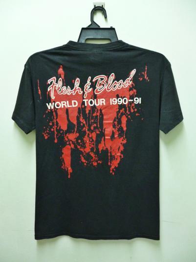VINTAGE POISON FLESH & BLOOD TOUR T-SHIRT