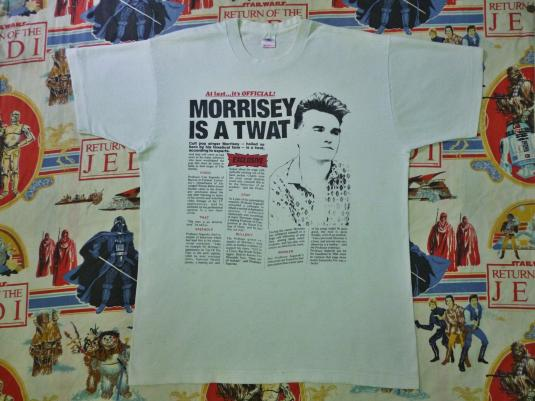 VINTAGE 1988 MORRISSEY IS A TWAT T-SHIRT