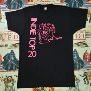 VINTAGE LATE 80'S INDIE TOP 20 PROMO T-SHIRT