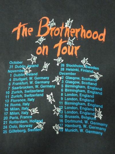 VINTAGE 1988 BON JOVI EUROPEAN TOUR T-SHIRT