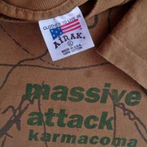 VINTAGE 1995 MASSIVE ATTACK KARMA COMA T SHIRT