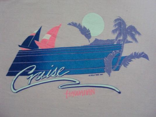 VINTAGE 1983 HAWAII POLY TEES T-SHIRT