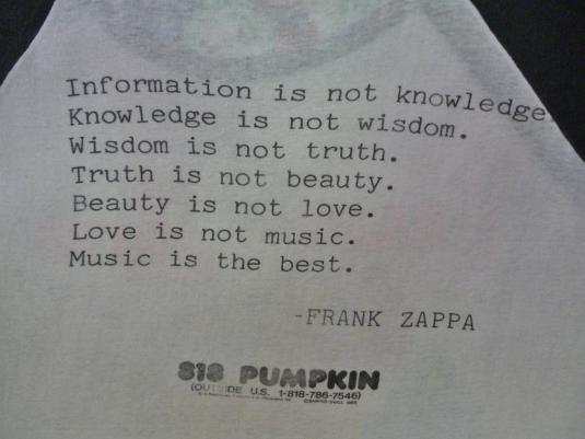 VINTAGE 1988 FRANK ZAPPA T-SHIRT